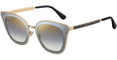 Sunglasses - Jimmy Choo - LORY/S - 2M2 (FQ)  BLACK GOLD // GREY GRADIENT GOLD MIRROR