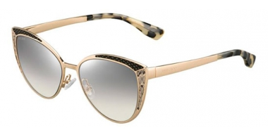 Sunglasses - Jimmy Choo - DOMI/S - PSW (IC) GOLD BLACK METALIZED // GREY MIRROR SILVER GRADIENT