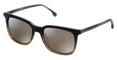 Sunglasses - Lozza - SL4160M - 6BZX BLACK GRADIENT GREY STRIPED // BROWN GRADIENT MIRROR SILVER