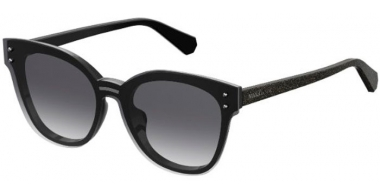 Sunglasses - Max & Co - MAX&CO.375/S - NS8 (9O)  BLACK GLITTER // DARK GREY GRADIENT
