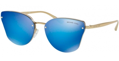 Sunglasses - Michael Kors - MK2068 SANIBEL - 330325 NUDE TRANSPARENT // COBALT MIRROR