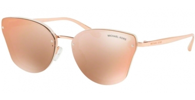Sunglasses - Michael Kors - MK2068 SANIBEL - 3350R1 MILKY WHITE // ROSE GOLD FLASH