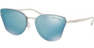 Sunglasses - Michael Kors - MK2068 SANIBEL - 33546J SILVER GLITTER // POWDER BLUE MIRROR