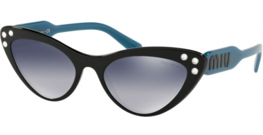 Sunglasses - Miu Miu - SMU 05TS - 1AB3A0 BLACK // GREY GRADIENT BLUE MIRROR SILVER