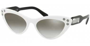 Sunglasses - Miu Miu - SMU 05TS - 4AO5O0 WHITE // GREY GRADIENT MIRROR SILVER