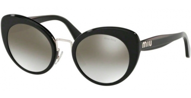 Sunglasses - Miu Miu - SMU 06TS - 16E5O0 BLACK TOP OPAL GREY // GRADIENT GREY MIRROR SILVER