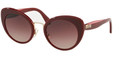 Sunglasses - Miu Miu - SMU 06TS - 40Z150 GARNET TOP OPAL BORDEAUX // BROWN GRADIENT PURPLE GRADIENT BLACK
