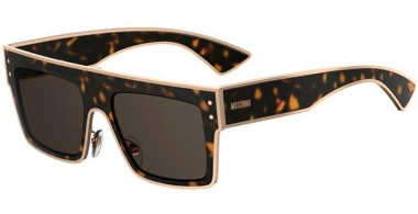 Sunglasses - Moschino - MOS001/S - 086 (IR) DARK HAVANA // GREY BLUE