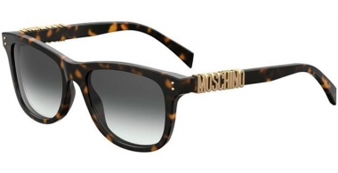 Sunglasses - Moschino - MOS003/S - 086 (9O) DARK HAVANA // DARK GREY GRADIENT
