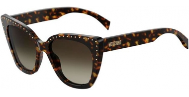 Sunglasses - Moschino - MOS005/S - 086 (HA) DARK HAVANA // BROWN GRADIENT