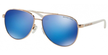 Sunglasses - Michael Kors - MK5007 HVAR - 104525 ROSE GOLD WHITE // BLUE MIRROR
