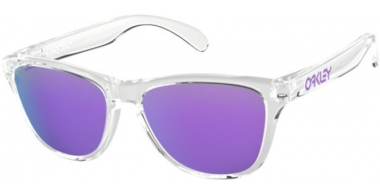 Frames Junior - Oakley Junior - FROGSKINS XS OJ9006 - 9006-03 POLISHED CLEAR // VIOLET IRIDIUM