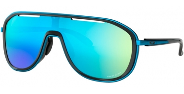 Sunglasses - Oakley - OUTPACE OO4133 - 4133-03 POLISHED BLACK SAPPHIRE // PRIZM SAPPHIRE