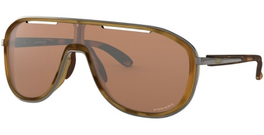 Sunglasses - Oakley - OUTPACE OO4133 - 4133-04 MATTE BROWN TORTOISE // PRIZM TUNGSTEN