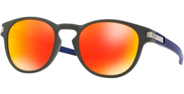 Sunglasses - Oakley - LATCH OO9265 - 9265-37 AERO MATTE CARBON // PRIZM RUBY