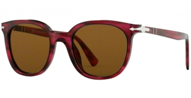 Sunglasses - Persol - PO3216S - 108433 STRIPPED RED // BROWN