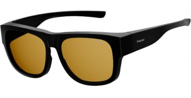 Sunglasses - Polaroid Ancillaries - PLD 9010/S - 807 (MU) BLACK // YELLOW POLARIZED