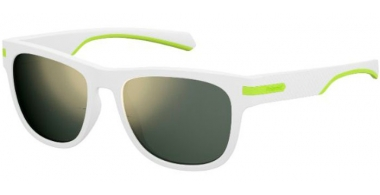 Gafas de Sol - Polaroid - PLD 2065/S - 6HT (LM)  WHITE CRYSTAL GREY // GREY GOLD MIRROR POLARIZED
