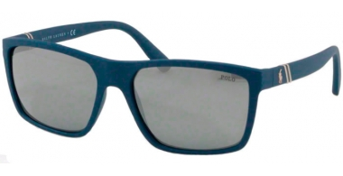 Sunglasses - POLO Ralph Lauren - PH4133 - 56186G MATTE NAVY BLUE // MIRROR SILVER