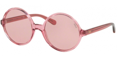 Sunglasses - POLO Ralph Lauren - PH4136 - 568684 TRANSPARENT DARK PINK // BURGUNDY