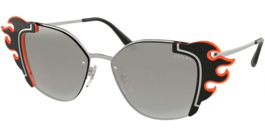 Sunglasses - Prada - SPR 59VS - 4275O0 SILVER BLACK ORANGE // GREY GRADIENT SILVER MIRROR