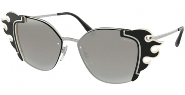 Sunglasses - Prada - SPR 59VS - 4285O0 SILVER BLACK IVORY // GREY GRADIENT SILVER MIRROR