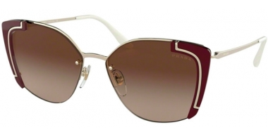 Sunglasses - Prada - SPR 59VS - 4306S1 PALE GOLD BORDEAUX // BROWN GRADIENT