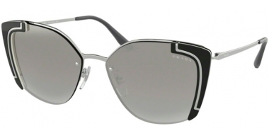 Sunglasses - Prada - SPR 59VS - 4315O0 SILVER BLACK IVORY // GREY GRADIENT SILVER MIRROR