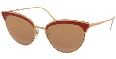 Sunglasses - Prada - SPR 60VS - 400408 ROSE GOLD BORDEAUX // VIOLET BROWN SILVER MIRROR
