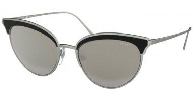 Sunglasses - Prada - SPR 60VS - 421407 MATTE SILVER BLACK // GREY SILVER MIRROR