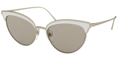 Sunglasses - Prada - SPR 60VS - 4265J2 MATTE PALE GOLD/WHITE // BROWN