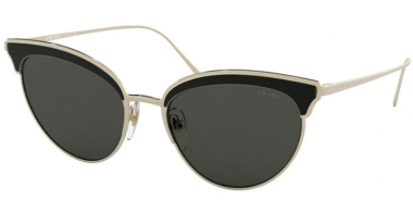 Sunglasses - Prada - SPR 60VS - AAV5S0 PALE GOLD BLACK // GREY