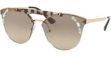 Sunglasses - Prada - SPR 53US - C3O3D0 GOLD OPAL SPOTTED BROWN // LIGHT BROWN GRADIENT LIGHT GREY