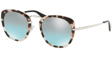 Sunglasses - Prada - SPR 58US - UAO096 SPOTTED OPAL BROWN // AZURE GRADIENT MIRROR BLACK