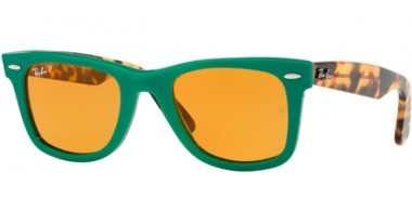 Sunglasses - Ray-Ban® - Ray-Ban® RB2140 ORIGINAL WAYFARER - 1240N9 GREEN // YELLOW POLARIZED