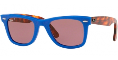 Sunglasses - Ray-Ban® - Ray-Ban® RB2140 ORIGINAL WAYFARER - 1241W0 BLUE // VIOLET POLARIZED