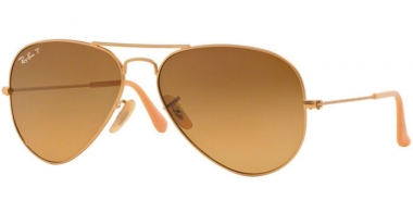 Gafas de Sol - Ray-Ban® - Ray-Ban® RB3025 AVIATOR LARGE METAL - 112/M2 MATTE GOLD // BROWN GRADIENT POLARIZED