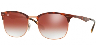 Sunglasses - Ray-Ban® - Ray-Ban® RB3538 - 9074V0 COPPER ON TOP HAVANA // RED GRADIENT MIRROR RED