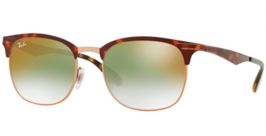 Sunglasses - Ray-Ban® - Ray-Ban® RB3538 - 9074W0 COPPER ON TOP HAVANA // GREEN GRADIENT MIRROR RED