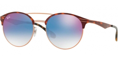Sunglasses - Ray-Ban® - Ray-Ban® RB3545 - 9074X0 COPPER ON TOP HAVANA // GRADIENT BLUE MIRROR RED