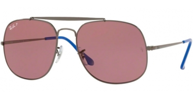 Gafas de Sol - Ray-Ban® - Ray-Ban® RB3561 GENERAL - 9106W0 GUNMETAL // VIOLET POLARIZED