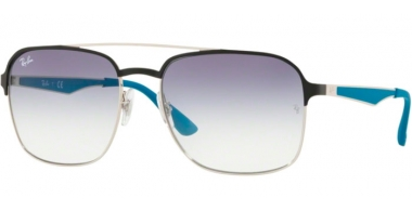 Gafas de Sol - Ray-Ban® - Ray-Ban® RB3570 - 910919 SILVER BLACK // CLEAR GRADIENT LIGHT BLUE