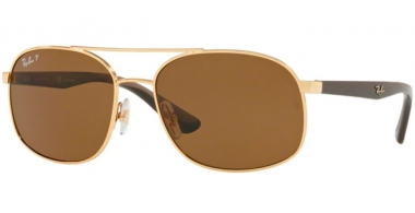 Gafas de Sol - Ray-Ban® - Ray-Ban® RB3593 - 001/83 GOLD // BROWN POLARIZED