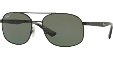 Gafas de Sol - Ray-Ban® - Ray-Ban® RB3593 - 002/9A BLACK // GREEN POLARIZED