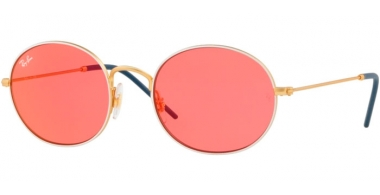 Gafas de Sol - Ray-Ban® - Ray-Ban® RB3594 - 9093C8 GOLD ON TOP WHITE // PINK MIRROR RED