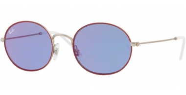 Gafas de Sol - Ray-Ban® - Ray-Ban® RB3594 - 9112D1 SILVER ON TOP BORDEAUX // DARK VIOLET MIRROR RED