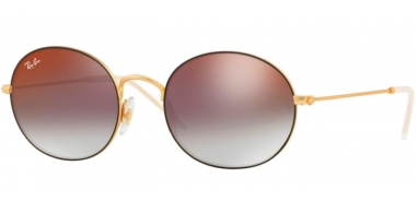 Gafas de Sol - Ray-Ban® - Ray-Ban® RB3594 - 9114U0 RUBBER GOLD ON TOP BLACK // GREY GRADIENT MIRROR RED