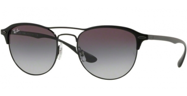 Sunglasses - Ray-Ban® - Ray-Ban® RB3596 - 186/8G BLACK ON TOP MATTE BLACK // GREY GRADIENT DARK GREY