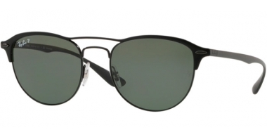 Sunglasses - Ray-Ban® - Ray-Ban® RB3596 - 186/9A BLACK ON TOP MATTE BLACK // GREY GRADIENT DARK GREY POLARIZED
