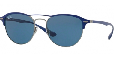 Sunglasses - Ray-Ban® - Ray-Ban® RB3596 - 900580 GUNMETAL ON TOP MATTE BLUE // DARK BLUE